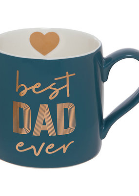 ***Best Dad Ever Navy Blue Coffee Mug