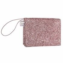***Rose Gold Glitter Flask Clutch