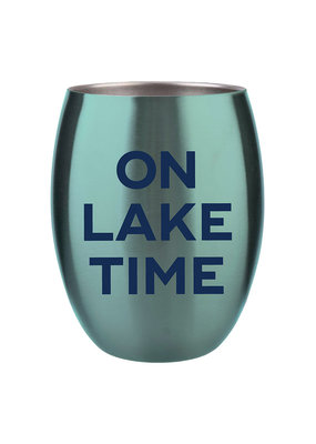 ***On Lake Time Stemless Wine Cup