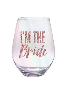***I'm The Bride Jumbo Stemless Wine Glass