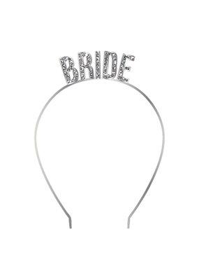 ***Bride Silver Glitter Headband