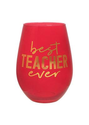 ***Best Teacher Ever Jumbo Stemless Wine Glass