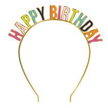 ***Happy Birthday Colorful Headband