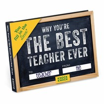 ***Why You're the Best Teacher Ever Fill In Book