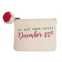 ***Do Not Open  Christmas Gift Card Pom Pouch