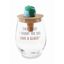 ***World Teacher Wine Glass