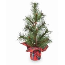 ***Red Tartan Faux Pine Tree