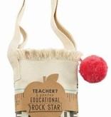 ***Rockstar Pom Pom Teacher Tote