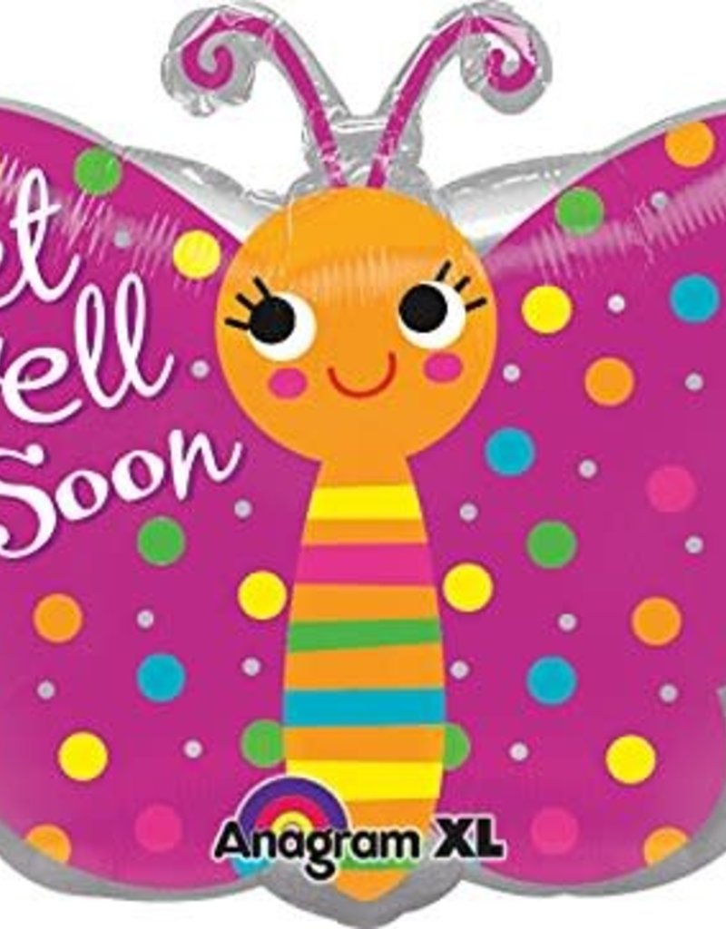***Get Well Soon Butterfly Mylar