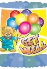 "***Get Well Bear Doctor 18"" Mylar Balloon"