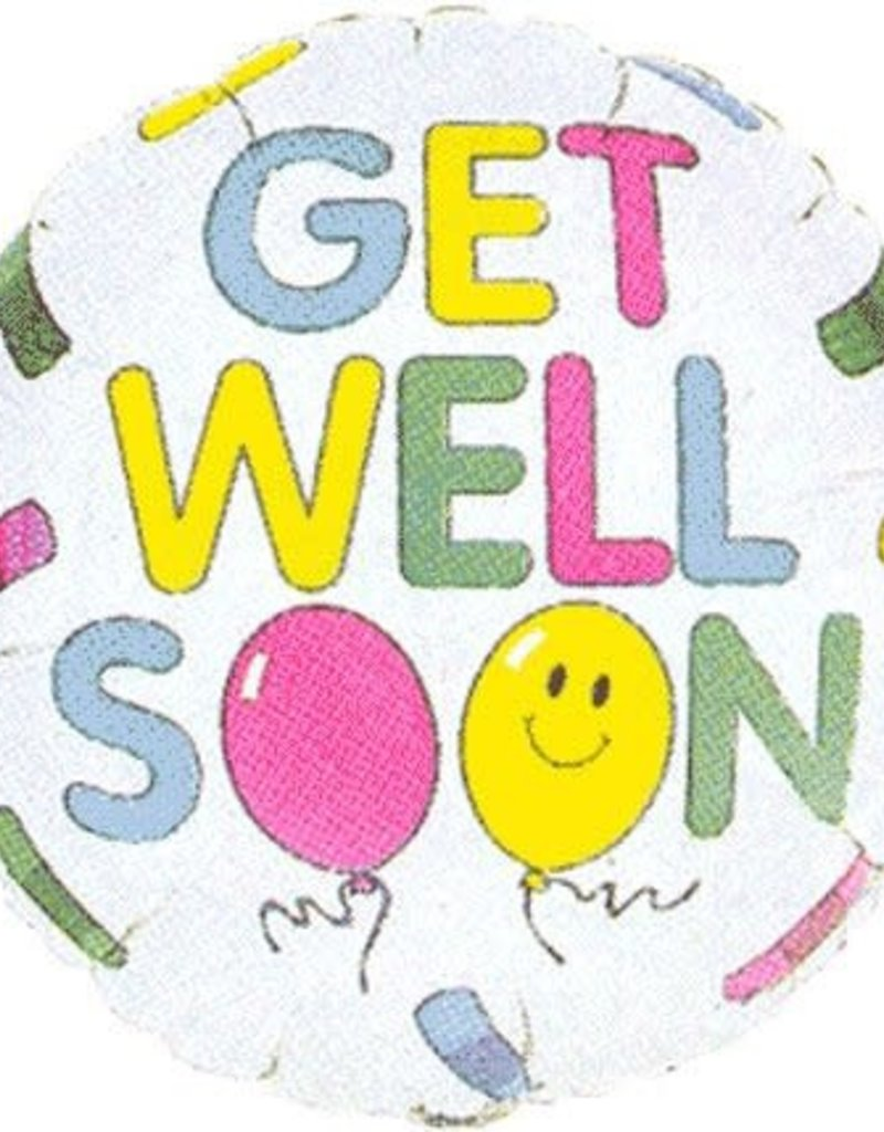 "***Get Well Bandaids 18"" Mylar Balloon"