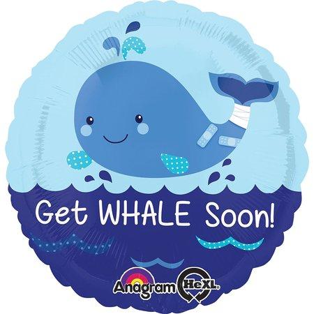 ***Get Whale Soon Mylar Balloon