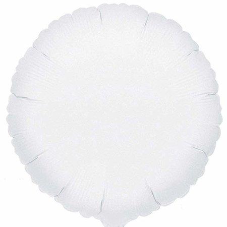***White Round Mylar Balloon