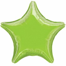 ***Lime Green Star Mylar Balloon