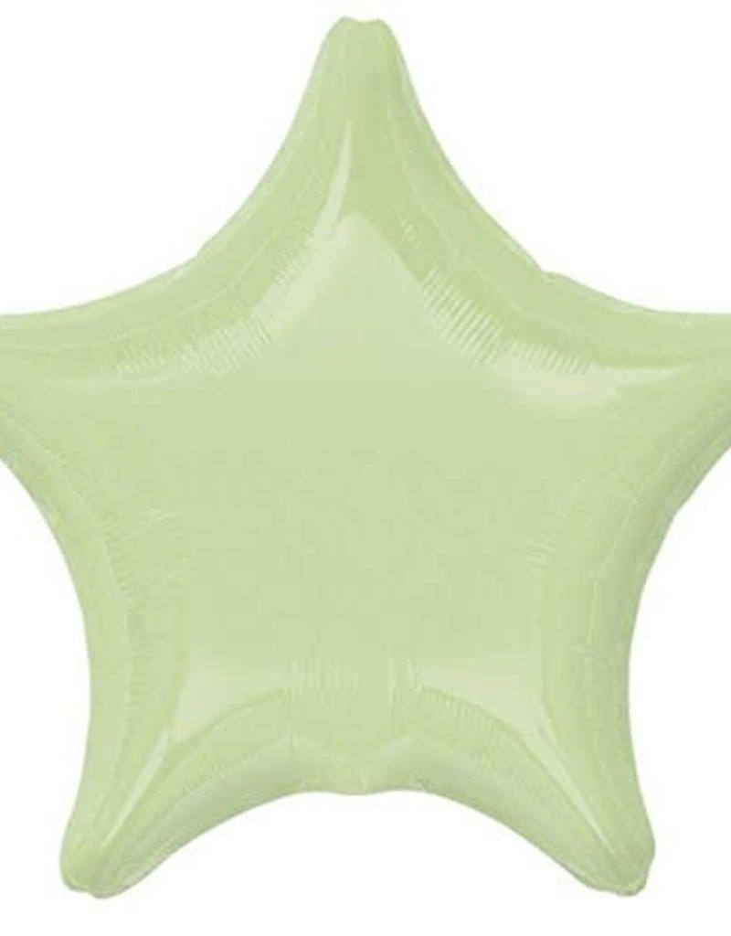 ***Leaf Green Star Mylar Balloon