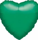 ***Green Heart Mylar Balloon
