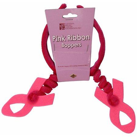 ***Pink Ribbon Boppers Headband