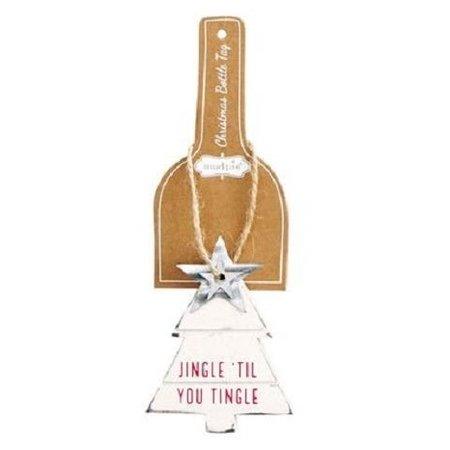***Jingle 'Til You Tingle White Christmas Tree Bottle Tag
