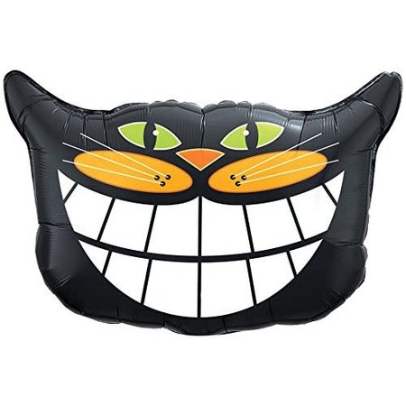 ***Black Cat Smile mylar balloon