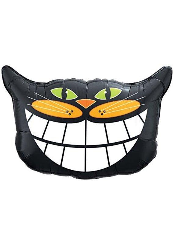 ****Black Cat Smile Jumbo Mylar Balloon