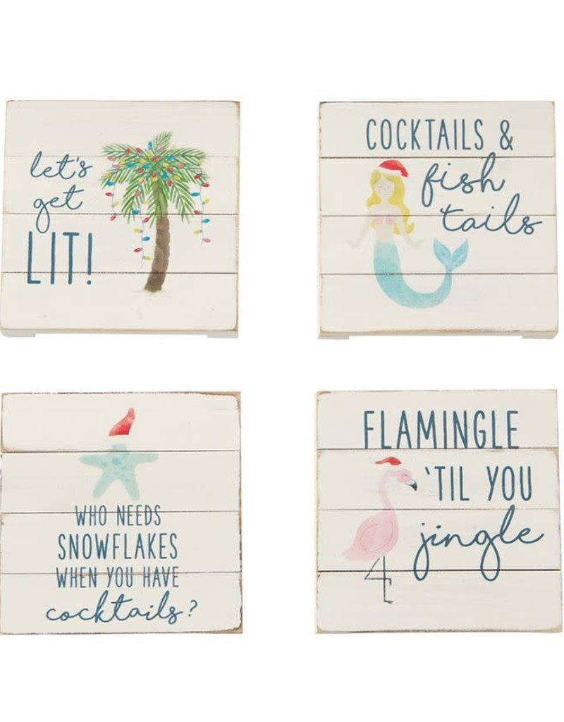 ***Planked Sea Christmas Coasters