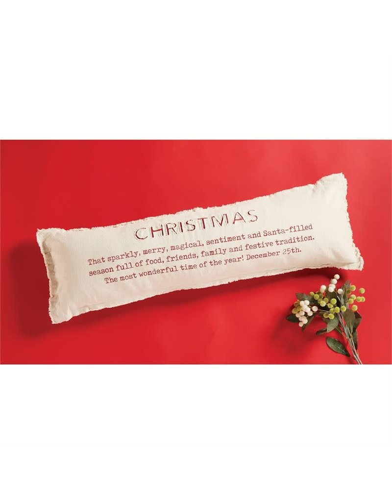 ***Christmas Definition Pillow