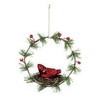 ***Cardinal Nest Wreath Christmas Ornament