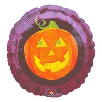 ***Halloween Pumpkin Mylar Balloon