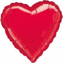 ***Red Heart Shape Mylar Balloon