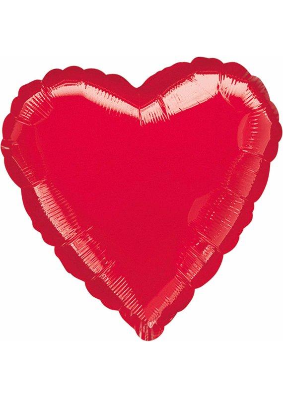 ****Red Heart Shape Mylar Balloon