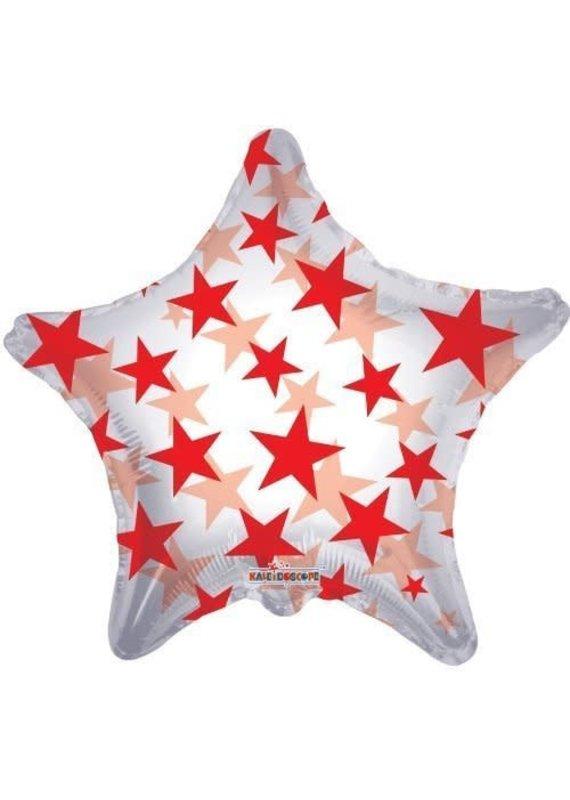 ***Red Stars Shape Clear Balloon