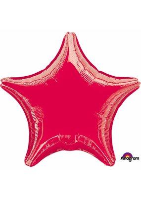 ***Red Star Mylar Balloon