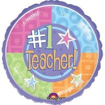 ***Number 1 Teacher Mylar Balloon