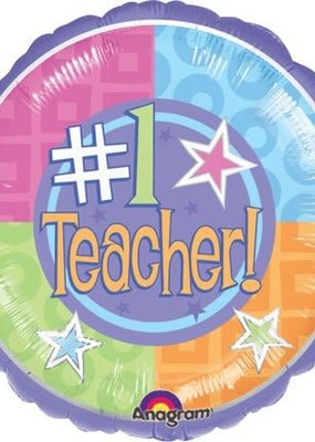 ***Number 1 Teacher Mylar Balloon