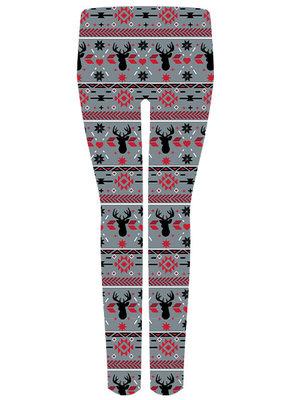 ***Gray Reindeer Leggings