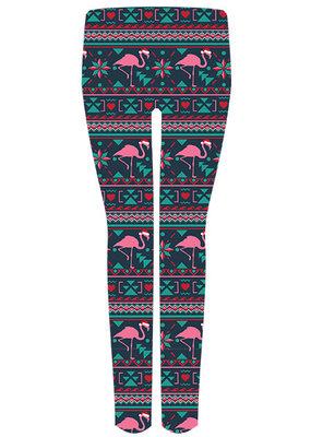 ***Santa Hat Flamingo Leggings