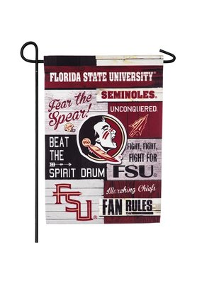 ***Florida State, Linen Fan Rules Garden Flag