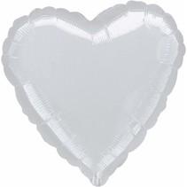 ***Silver Heart Mylar Balloon