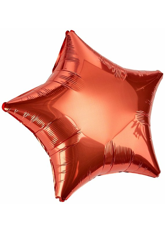 *****Orange Star Mylar Balloon