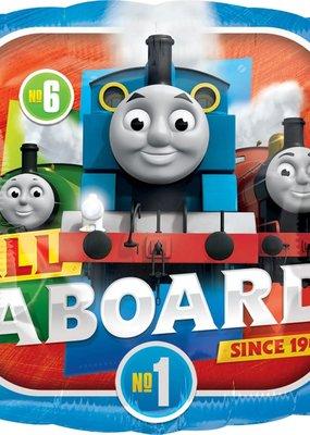 "***Thomas All Aboard 18"" Mylar Balloon"