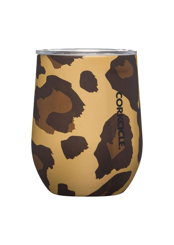 Corkcicle ****Corkcicle Leopard Stemless Wine Glass