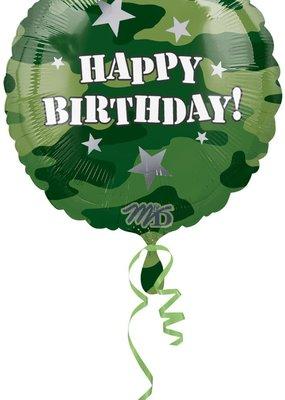 "M&D industries ***Happy Birthday Camouflage 17"" Mylar Balloon"
