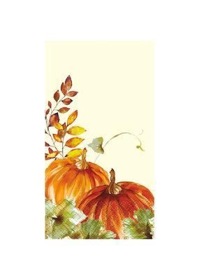***Watercolor Fall Pumpkins Guest Towel