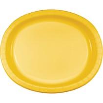 ***School Bus Yellow Oval Plates