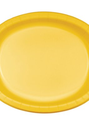 ***School Bus Yellow Oval Plates