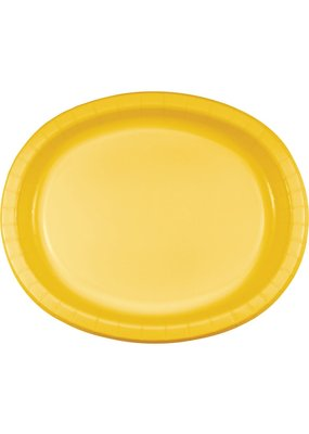 ****School Bus Yellow Oval Plates