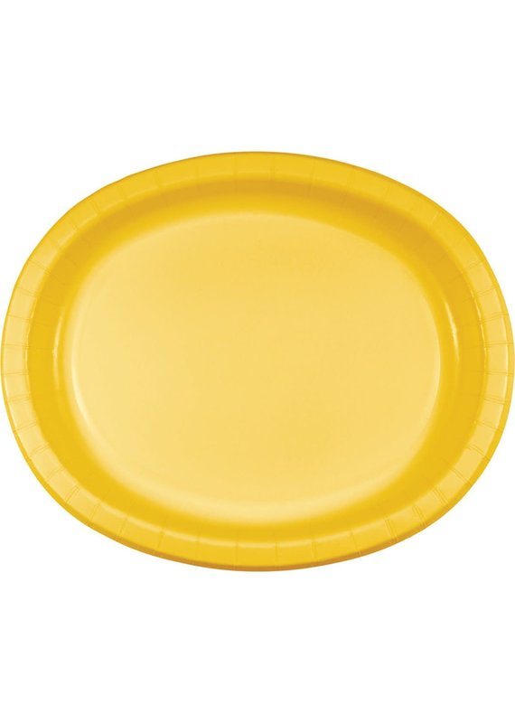 ****School Bus Yellow Oval Plates