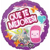 ***Que Te Mejores Spanish Get Well Soon Mylar Balloon