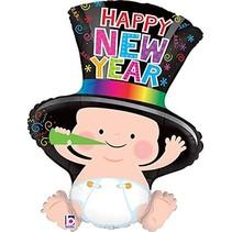 "***Happy New Year Baby 31""Jumbo Shape Mylar Balloon"
