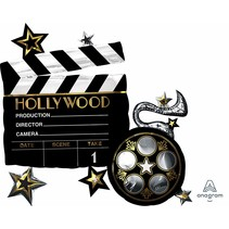 "***Hollywood Clapboard 30""x29"" Jumbo Balloon"